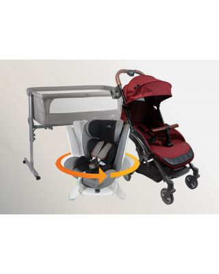 Air Transporter Xtra Lightweight + 360 Beyond ISOFIX Car Seat + 3 in 1 Night Angel Baby Cot
