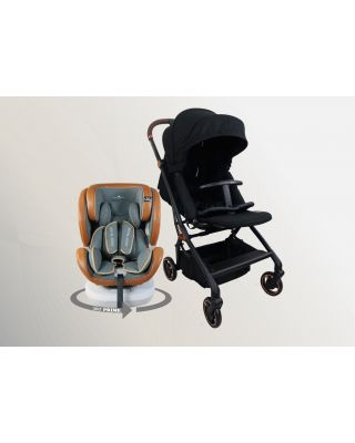 Royal Kiddy 360 Onyx stroller + 360 Prime ISOFIX Car Seat + 3 in Night Angel Baby Cot