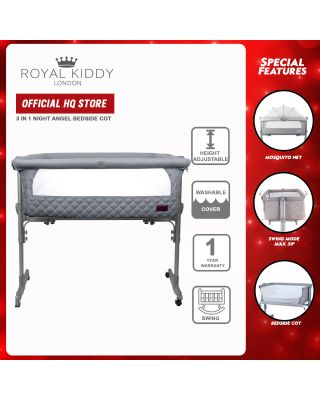 Royal Kiddy 3 in 1 Night Angel Bedside Cot (Diamond Edition)
