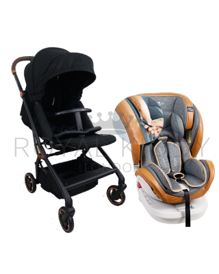 RK 360 Onyx Double Facing Stroller + RK 360 Prime Isofix Carseat Zipper Edition (Prime Z)