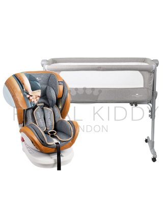 RK 360 Prime Isofix Carseat Zipper Edition (Prime Z) + RK 3 In 1 Night Angel Baby cot